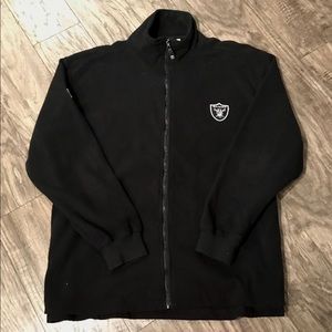Vintage NFL Oakland Raiders Full Zip Fleece Jacket